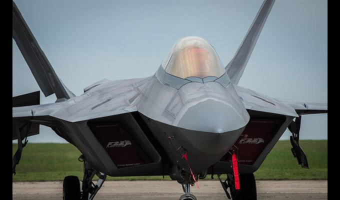 F-22 Raptors fly into Lithuania
